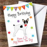To From Pet Dog Toy Fox Terrier Customised Birthday Card