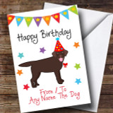 To From Dog Chocolate Labrador Customised Birthday Card