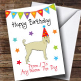 To From Pet Dog Afghan Hound Customised Birthday Card