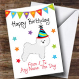 To From Pet Dog Bichon Frise Customised Birthday Card