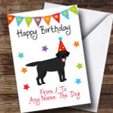 To From Dog Black Labrador Customised Birthday Card