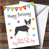 To From Dog Boston Terrier Customised Birthday Card
