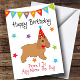 To From Dog Cocker Spaniel Customised Birthday Card
