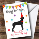 To From Pet Dog Great Dane Customised Birthday Card