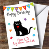 To From Cat Black & White Customised Birthday Card