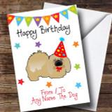 To From Pet Dog Pekingese Customised Birthday Card