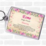 Esme Name Meaning Keyring Floral