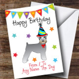 To From Pet Dog Schnauzer Customised Birthday Card