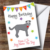 To From Pet Dog Wolfhound Customised Birthday Card