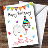 To From Pet Dog Shih Tzu Customised Birthday Card