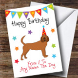 To From Dog Bloodhound Customised Birthday Card
