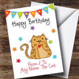 To From Pet Cat Bengal Customised Birthday Card