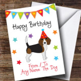 To From Pet Dog Beagle Customised Birthday Card
