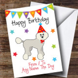 To From Pet Dog Poodle Customised Birthday Card