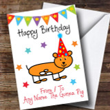 To From Pet Guinea Pig Customised Birthday Card