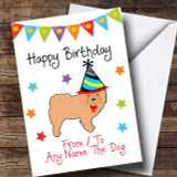 To From Dog Chow Chow Customised Birthday Card