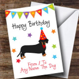 To From Dog Dachshund Customised Birthday Card