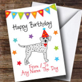 To From Dog Dalmatian Customised Birthday Card