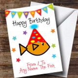 To From Pet Goldfish Customised Birthday Card
