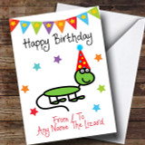 To From Pet Lizard Customised Birthday Card