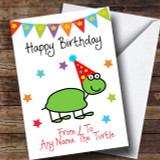 To From Pet Turtle Customised Birthday Card