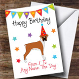 To From Dog Boxer Customised Birthday Card