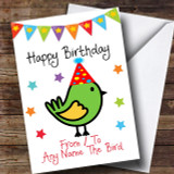To From Pet Bird Customised Birthday Card