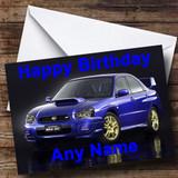Subaru Impreza Customised Birthday Card