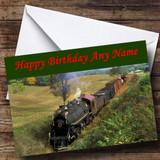 Steam Train Customised Birthday Card