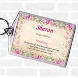 Sharon Name Meaning Keyring Floral