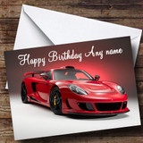 Porsche Carrera Gt Red Customised Birthday Card