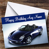 Porsche Boxter Blue Customised Birthday Card