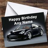 Porsche Black Customised Birthday Card