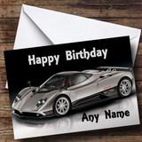 Pagani Zonda Customised Birthday Card