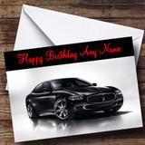 Maserati Quattroporte Customised Birthday Card