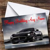 Maserati Granturismo Black Customised Birthday Card