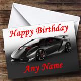 Lamborghini Sesto Elemento Concept Supercar Customised Birthday Card