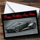 Grey Lamborghini Embolado Customised Birthday Card