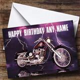 Harley Davidson Customised Birthday Card