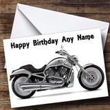 Harley Davidson Motorbike Customised Birthday Card