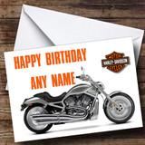 Harley Davidson Bike Customised Birthday Card