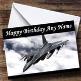 Grey Fighter Jet Customised Birthday Card