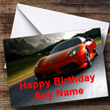 Ferrari Customised Birthday Card