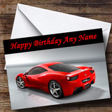 Red Ferrari Italia Customised Birthday Card