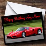 Red Ferrari Enzo Customised Birthday Card