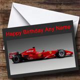 Formula Ferrari Customised Birthday Card