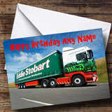 Eddie Stobart Lorry Customised Birthday Card