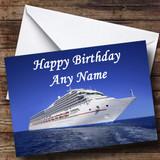 Cruise Ship Customised Birthday Card