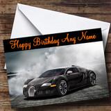 Black Bugatti Veyron Customised Birthday Card