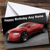 Red Audi Customised Birthday Card